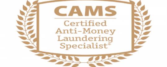 Nuova Certificazione AML: CAMS.