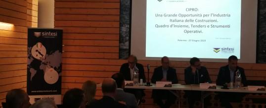 Conferenza a Palermo sul Settore Costruzioni e Infrastrutture a Cipro.